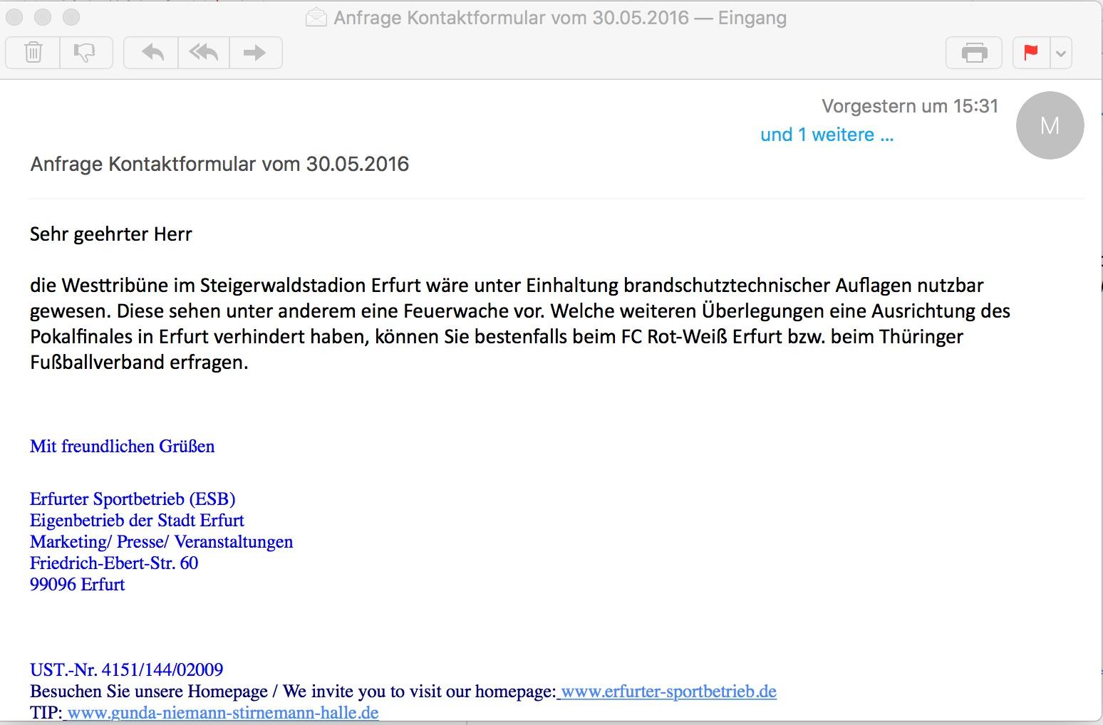 Mail Erfurter Sportbetrieb